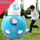 Blue Football Baby Sippy Cup Children Sports Bottle Straw for FIFA World Cup