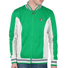 Mens Fila Settanta Kelly Green Baseball Track Top