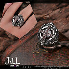 gothic aristocrat exorcist holy cross titanium steel solitaire ring【J1A645】