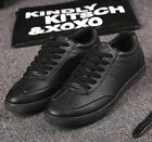 New Men's leather Shoes Fashion Breathable Casual shoes Sneakers Black