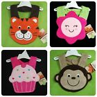 New/NWT~CARTERS~TIGER FLOWER CUPCAKE MONKEY FROG TERRY BIB~BABY BOYS+GIRLS BIBS
