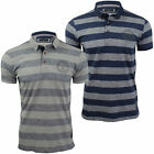 Mens Stripe Polo T-Shirt by Brave Soul Short Sleeved