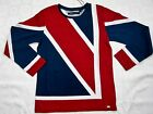Boys T Shirts Union Jack Style Print Kids Long Sleeve Casual Top Flag 2-3 to 14y