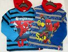 Boys T Shirt Spiderman Hooded Top Layered Long Sleeve Kids Tops T Shirts 2-8yrs