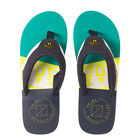 ANIMAL NEW Mens -- Unset -- Animal Jekyl Slice Flip Flops - Pool Green BNWT