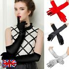 Ladies Satin Party Dress Prom Evening Wedding Long Finger Gloves Charleston NEW