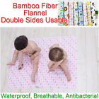 100x80cm Baby Bamboo Fiber Flannel Changing Mat Natural Waterproof Urine Pad
