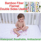 45x30cm Baby Bamboo Fiber Flannel Changing Mat Natural Waterproof Urine Pad