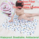 70x50cm Baby Bamboo Fiber Flannel Changing Mat Natural Waterproof Urine Pad