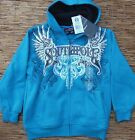 SOUTHPOLE YOUTH OCEAN BLUE LOGO COTTON/POLY ZIP-UP HOODIE SZ 5 or 6 LIST $48