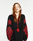 VTG LOVE ME FREE STYLE FESTIVAL PEOPLE FLORAL PRINT EMBROIDERY DRESS BLOUSE TOP
