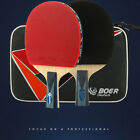 1pc Pro Carbon Table Tennis Racket Ping Pong Paddle Long / Short Handle + gift