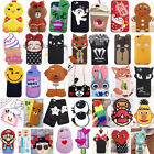 3D Cute Cartoon Soft Silicone Rubber Case Cover For iPhone 7 6 6s Plus 5 5s SE
