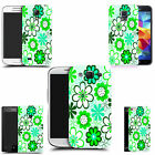 hard back case cover for many mobiles - green daisy