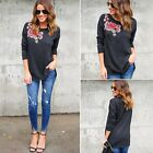 New Fashion Women Lady Loose Long Sleeve Tops Blouse Shirt Casual Cotton T-Shirt