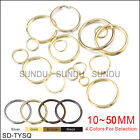 Wholesale 10 50mm Metal Split Key Ring Keychain Ring With 4 Colors