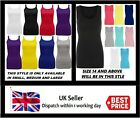 Kyпить New Ladies Womens Plain Ribbed Stretchy Vest Top Strap Gym Cami Plus Sizes 8-26 на еВаy.соm