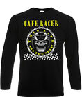 Cafe Racer Long Sleeve T-Shirt Biker 60's Rock & Roll Ace This Life & The Next!