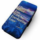 Everlasting Love - Faux Leather Flip Phone Cover Case Quote Inspirational Lord