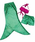 Top Quality Girls Mermaid Princes 3 piece Swimsuit Fancy Dress Size 3 to 8 years