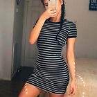Women Fashion Short Sleeve Party Evening Cocktail Short Mini Dress Casual Dress