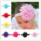 Cute Kids Baby Infant Toddlers Chiffon Flower Headband Hair Bow Band Headwear