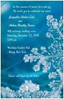 30 50 100 WINTER Wonderland Sky Blue Snowflakes PERSONALIZED WEDDING Invitation