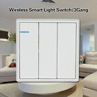 Wireless Smart Light Digital Switch 3Gang Home Automation High Quality White Kit