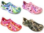 Womens Sandals Clogs Tie-Dye Camo hook and loop Flip Flops Slippers Flats Shoes