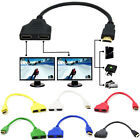 NEW HDMI 1 Male To Dual HDMI 2 Female Splitter Adapter HD 1080P LED LCD TV TR