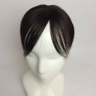 """Women 3x3.5"""" 100%  Remy Human Hair Topper Toupee Hairpiece Top Wig  6 inch"""