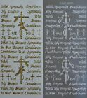 MIXED SYMPATHY Type 2 PEEL OFF STICKERS Deepest Condolences Crosses Cardmaking