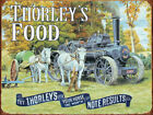 THORLEY'S FOOD STEAM FARM TRACTOR HORSE FEED METAL PLAQUE VINTAGE NOSTALGIC 328