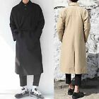 Men Hit Black Beige Khaki Long Suit Trench Blazer Overcoat Outerwear Jacket Coat