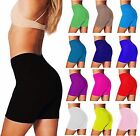 WOMENS CYCLING COTTON GYM YOGA LADIES LYCRA SHORT ACTIVE CASUAL SPORT LEGGINGS