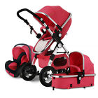 3 in 1 Baby Stroller Travel System high view Car Seat jogger Carriage pushchair