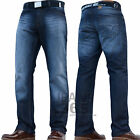 NEW MENS STRAIGHT LEG BRANDED JEANS PANTS TROUSERS CHEAP SALE ALL WAIST SIZES