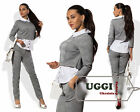 Elegant Stylish Woman Pant Suit Jersey 3/4 Sleeve Casual Wear to work