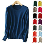Ladies 100% Cashmere Jumper Sweater Pashmina Girl's Womens Jumper O Neck Pretty