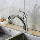 kitchen Sink Faucet Pull Out Spray Chrome Finish Mixer Tap Deck Mounted