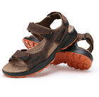 Genuine Leather Men's Summer Beach Shoes Slippers Open Toe Sport Sandals Casual