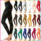 Women's Full Length Leggings Stretch Cotton Slim Fit Yoga Pants Ankle Long S-3XL