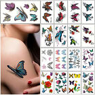 Colorful Butterfly Body Art Temporary Tattoos Removable Waterproof Sticker Sheet