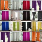 Thermal Curtains Ready Made Pair Eyelet Ring Top - Blue Pink Red Black - UK New