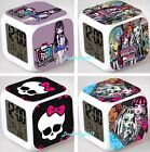 New Monster High LED 7 Color Changing Digital Alarm Clock Night Light Toy Gifts