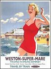 WESTON-SUPER-MARE SOMERSET TRAIN HOLIDAY SIGN METAL PLAQUE RETRO NOSTALGIC 669