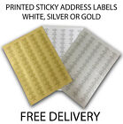 Personalised Premium Printed Address Labels - 65 Per A4 Sheet - Fast Delivery