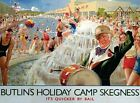BUTLIN'S HOLIDAY CAMP SKEGNESS YORKSHIRE TIN SIGN METAL PLAQUE NOSTALGIC 785