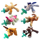 1Pcs Animal Baby Nipple Infant Wubbanub Silicone Pacifiers with Cuddly Plush Toy