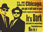 BLUES BROTHERS JACK ELWOOD CHICAGO VINTAGE STYLE METAL WALL SIGN TIN PLAQUE 1080